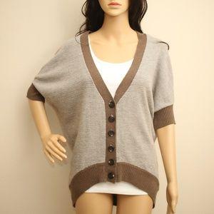 Beulah Dolman Sleeve Knit Sweater Cardigan S/M